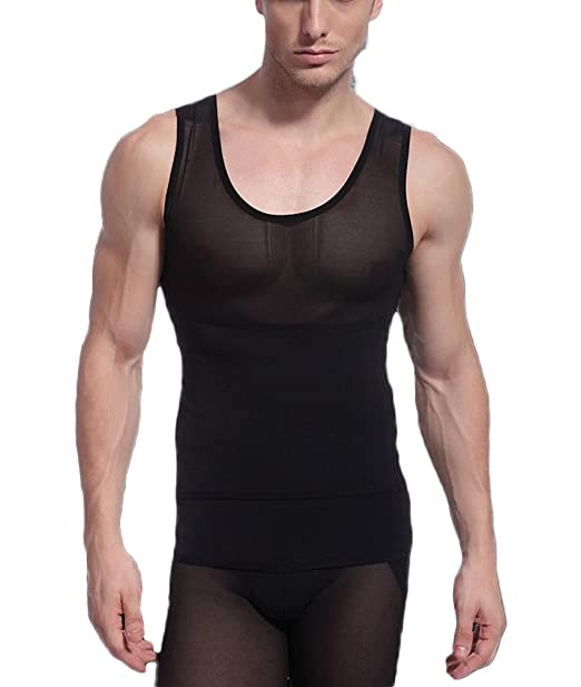 d1562832574 Andyshi Men s Shapewear Tummy Stomach Control Girdle Vest Waist Trimmers  Corset Compression Slimming Abdomen Tank Tops