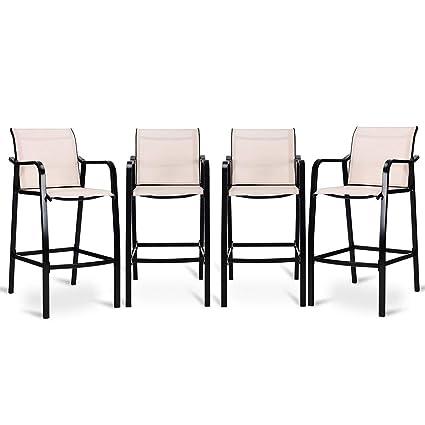 Remarkable Amazon Com Costway Set Of 4 Bar Stools Counter Height Lamtechconsult Wood Chair Design Ideas Lamtechconsultcom