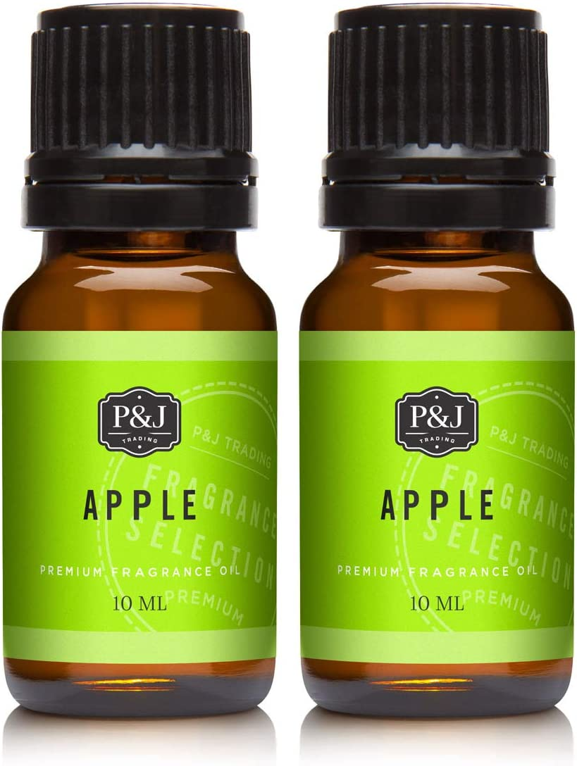 Apple Fragrance Oil - Premium Grade Scented Oil - 10ml - 2-Pack