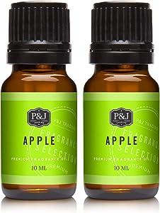 Apple Fragrance Oil - Premium Grade Scented Oil - 10ml - 2-Pack