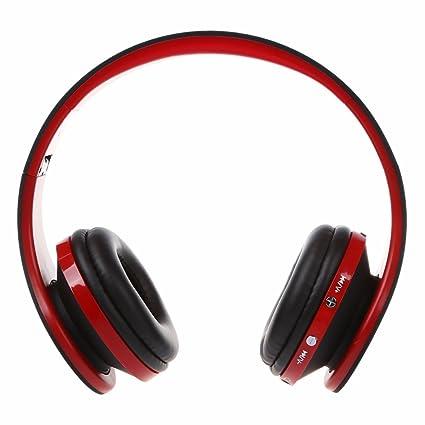 TOOGOO(R) Auriculares inalambricos de Bluetooth de estereo plegable manos libres Auriculares con microfono