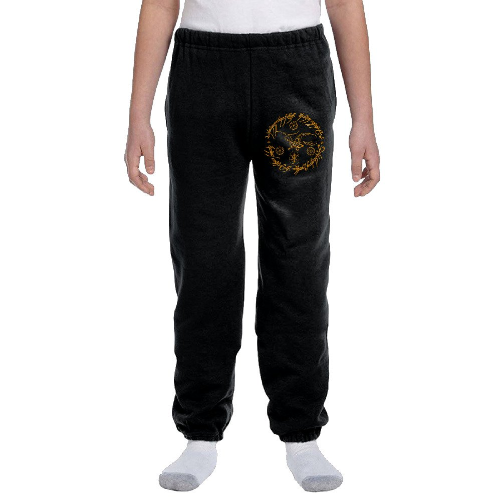 Lord Of The Rings Tolkien2 Youth Basics Fleece Pocketed Sweat Pants