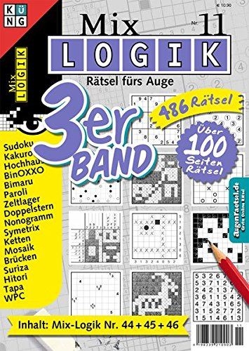 Mix-Logik 3er-Band Nr. 11 (Mix Logik 3er-Band / Logik-Rätsel)