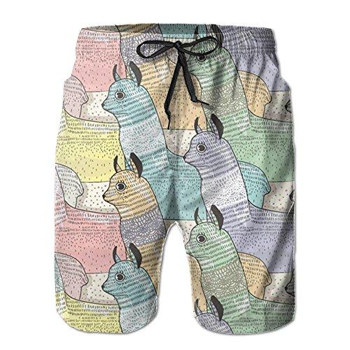 Game Life Shorts Docile Alpaca Mens Tree Quick Dry Swim Trunks Beach Shorts With Mesh Lining (Short Sea Set Life)