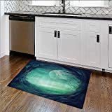 Thick Soft Plush Living Room Rug Chamr of SecrRite with the Wall Sacred Sorcery Spell Easy Clean Resistant W35''xH23''
