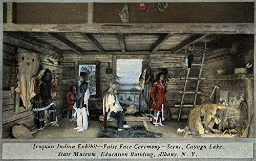 - Albany, NY - Iroquois Indian False Face Ceremony, State Museum (16x24 Fine Art Giclee Gallery Print, Home Wall Decor Artwork Poster)