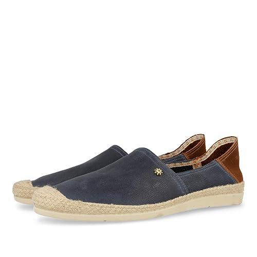 Alpargatas LA SIESTA Azul de Piel - T 40: Amazon.es: Zapatos y complementos