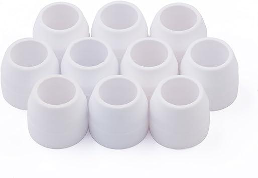 Consumibles Plasma Cutter White Ceramic Shield 10pcs Pack P80 Cutting Torch Accessary: Amazon.es: Bricolaje y herramientas