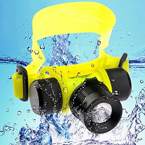 G&R GR Underwater Headlight Diving Head Lamp Scuba Dive Torch Light Linternas Frontales Cabeza Headlamp Frontal Flashlight LED Working (1PCS)