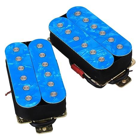 yibuy modelo hsoc-pbl azul Metal Guitarra Pastillas doble bobina Pastillas de Humbucker para guitarra