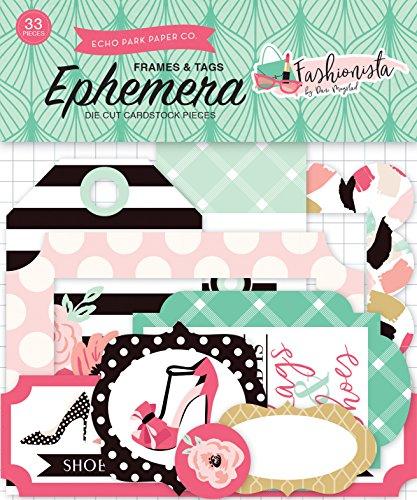 Paper Fashionista - Echo Park Paper Company Fashionista Frames & Tags Ephemera (FA139021)