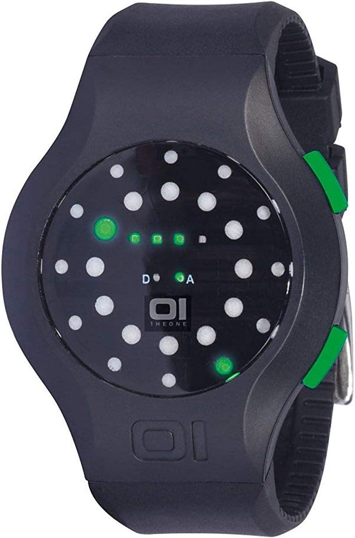 THE ONE Reloj Binario para Unisex de Cuarzo con Correa en Caucho MK202G3