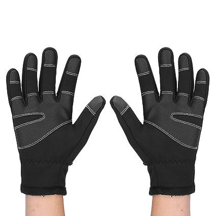 Guantes De Invierno Termico Para Hombres Pantalla Tactil A Prueba De Viento N...