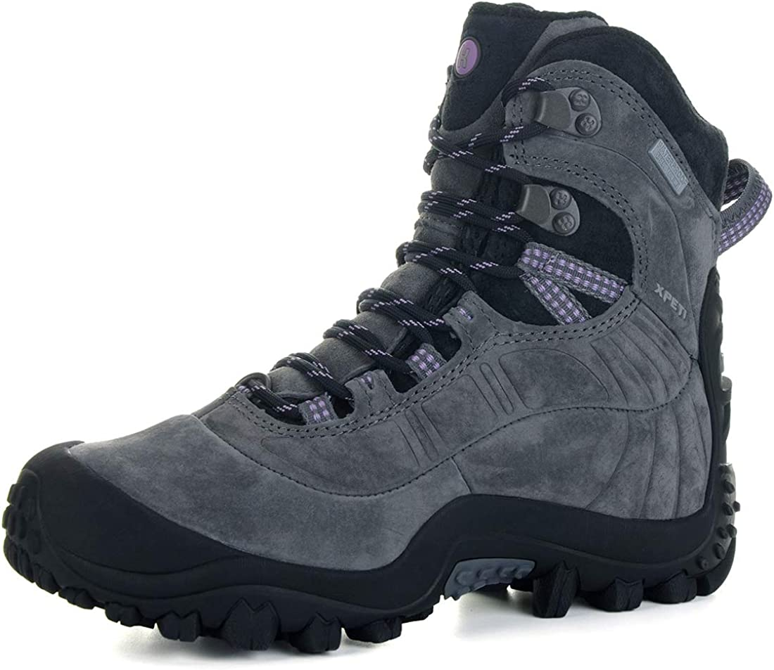 XPETI Women's Thermator Evo Mid High-Top Waterproof Leather Hiking Outdoor Boot