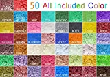 50 Colors Mica Soap Dye Powder Pigment for bath bomb Soap Making Colorant Candle Making, Eye Shadow, Blush, Nail Art, Resin Jewelry, Artist, Craft Projects 1g Each