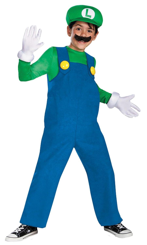 Super Mario Bros. - Luigi Niño Disfraz: Amazon.es: Ropa y accesorios