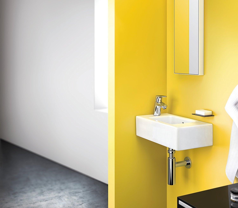 Hansgrohe 31951000 Focus 70 Grifo de lavabo con consumo de agua reducido 70 mm con vaciador autom/ático Cromo