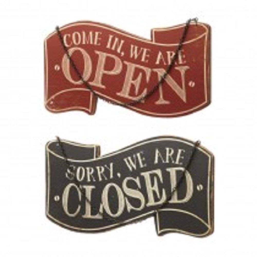 Sorry We Are Open Come In We Are Closed Wooden Sign by Heaven Sends