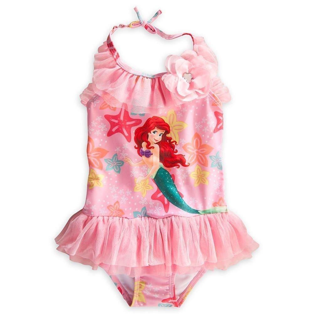 4 Disney Store The Little Mermaid Ariel Little Girl Deluxe One PC Swimsuit