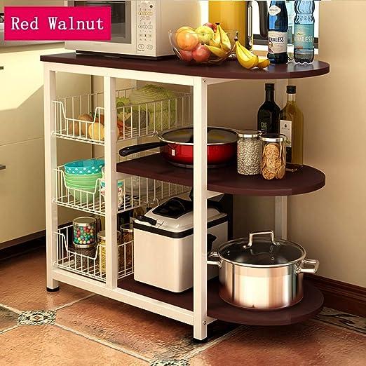 Estante de almacenamiento de la cocina de 3 niveles Estantes ...