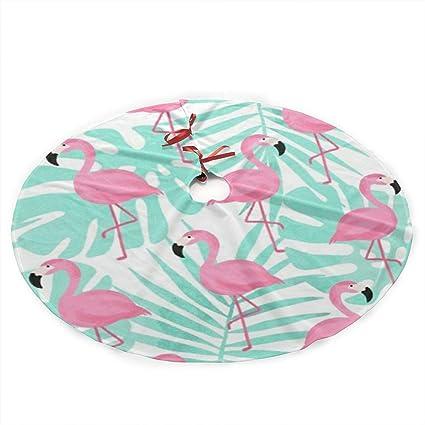 uk availability 8d6bc 976e0 Amazon.com: Downsville Pink Flamingo Christmas Tree Skirt ...