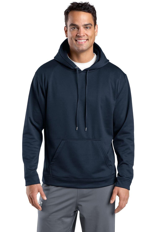 Sport-Wick Fleece Hooded Pullover - Navy Sport-Tek M