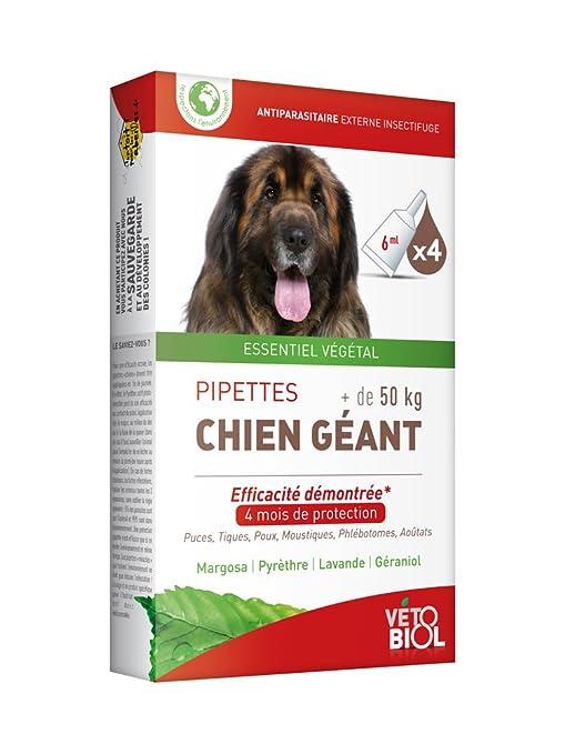 Vetobiol 4pipetas antiparasitario para perro gigante de ...
