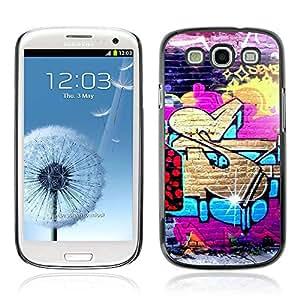 A-type Arte & diseño plástico duro Fundas Cover Cubre Hard Case Cover para Samsung Galaxy S3 III / i9300 i717 ( Enfriar la calle Graffiti Art )
