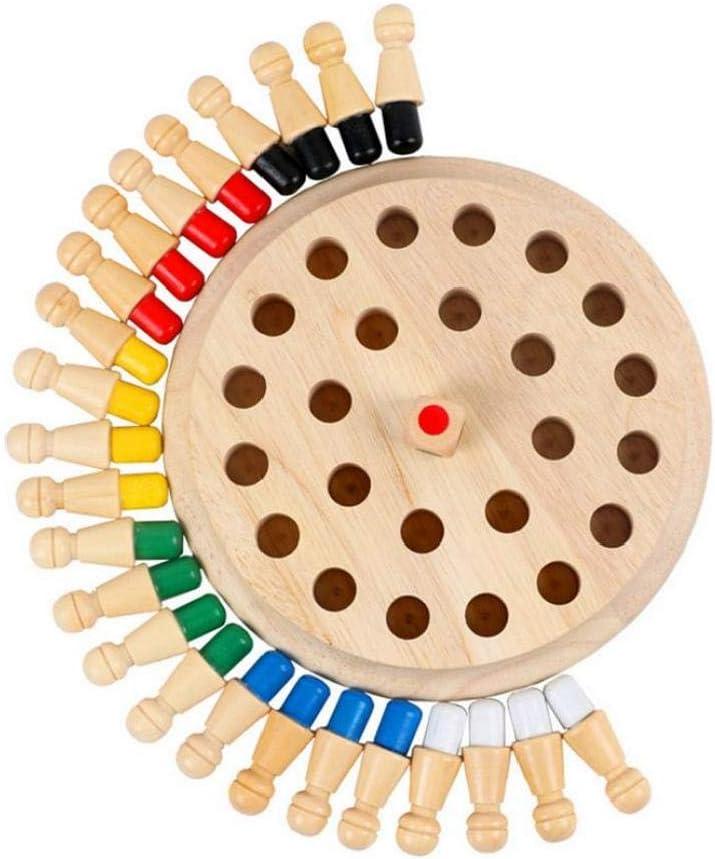 Juguete Junta de mesa clásicos de memoria partida de ajedrez de madera de juguete Juego de mesa para niños ideal para una familia educativos juguetes tempranos de aprendizaje