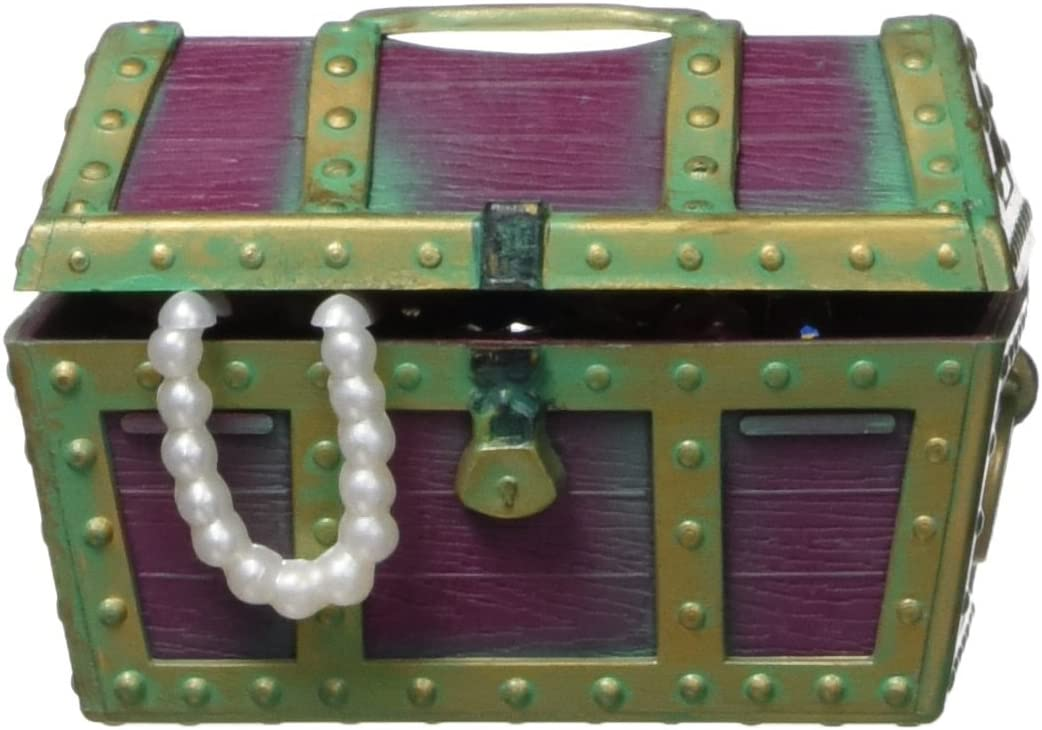 Penn-Plax Action-Air Jewel Box Treasure Chest Aquarium Ornament