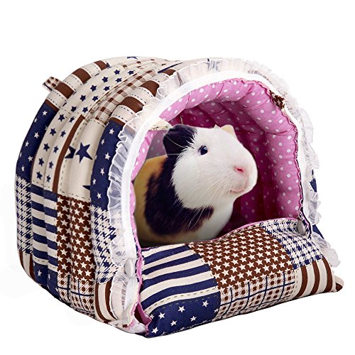Mkono Cozy Warm Rabbit Hammock Hanging Bed House Habitats Cage for Rabbit Guinea Pig Ferret - Tent Hammock Ferret