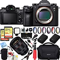 Sony Alpha a9 Mirrorless Interchangeable Lens Digital Camera Body Only + 50mm f1.4 Rokinon Prime Lens Bundle