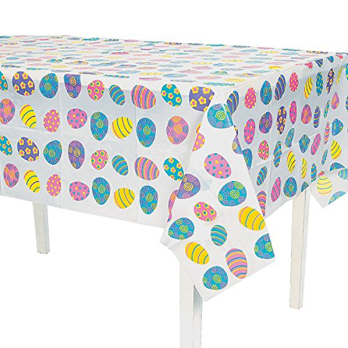 Fun Express - Plastic Easter Tablecover for Easter - Party Supplies - Table Covers - Print Table Covers - Easter - 1 Piece