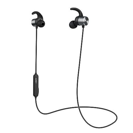 AUKEY Auricolari Bluetooth 4.1 Cuffie Wireless Sport 8 Ore di Tempo di  Utilizzo con aptX e ec9550f3f905