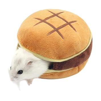 Boodtag Hamsterhaus Bett Matte Muschelformige Burger Fleece