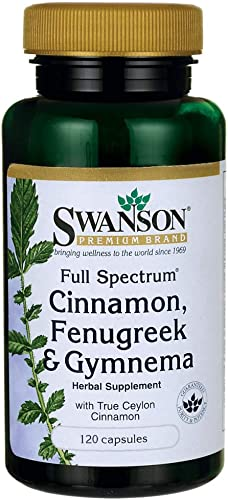 Swanson Full Spectrum Cinnamon, Fenugreek Gymnema 120 Caps