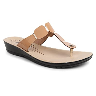 02a06e40ad1 zvise Women Office Party Wear Slippers (6, Beige): Buy Online at Low ...