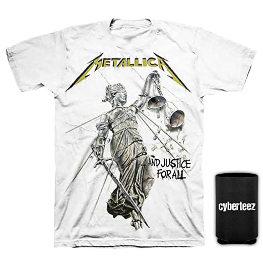 3c392735af Cyberteez Metallica and Justice for All White T-Shirt S-3XL + Coolie