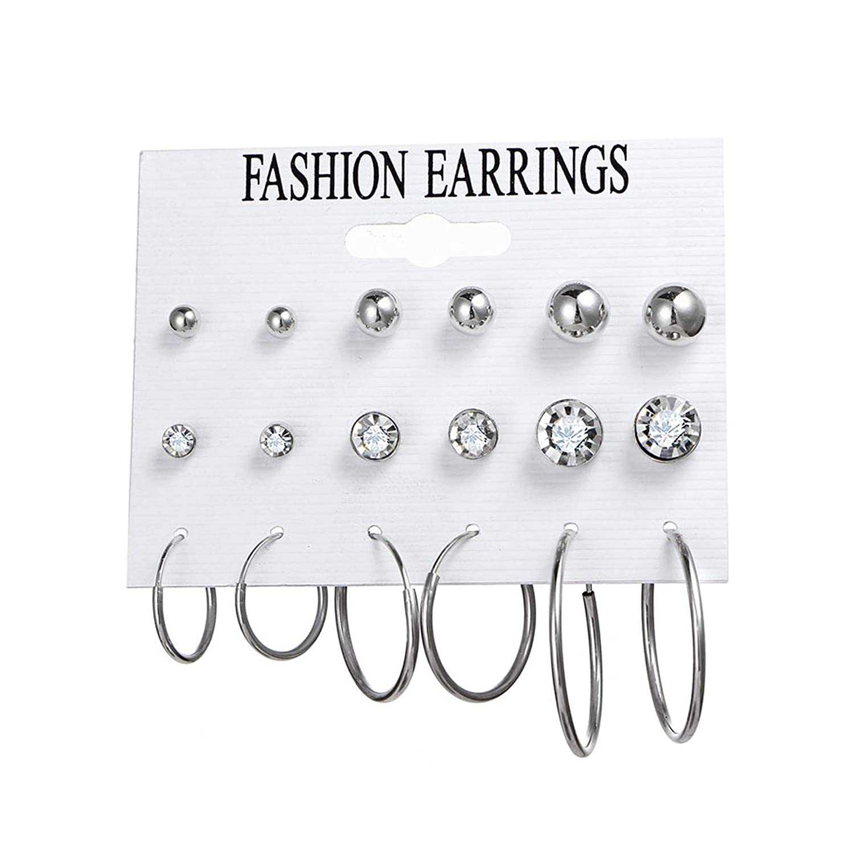 Minimalist Mixed Small Earrings Set Simple Geometric Stud Earrings for Women Girls Tiny Ear Studs Pendientes Kleine Oorbellen