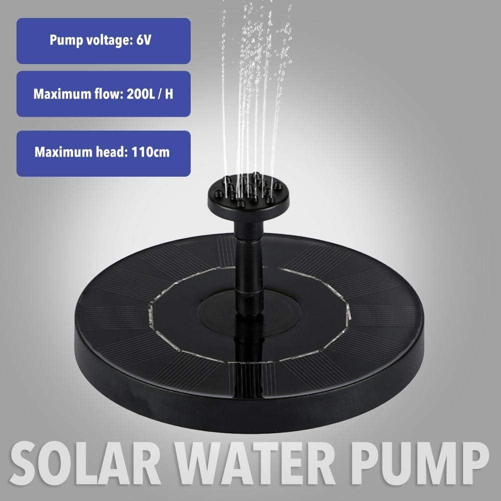 Gartensolarwasserpumpe Gr/ö/ße 145 140 44MM 1,0 W Schwimmbrunnen Solarwasserbrunnen MezoJaoie Solarbrunnen Solar Springbrunnen