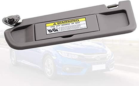 WEILEITE Left Driver Side Sun Visor Compatible with Honda Civic 2006-2011 Replaces 83280-SNA-A01ZB Beige