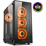Sharkoon TG5 RGB Midi-Tower Nero vane portacomputer