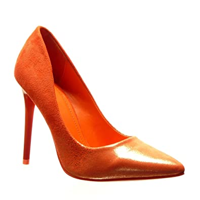 Angkorly - Women s Fashion Shoes Pump Court Shoes - Stiletto - Sexy - Shiny Stiletto  high 8617b9b18d