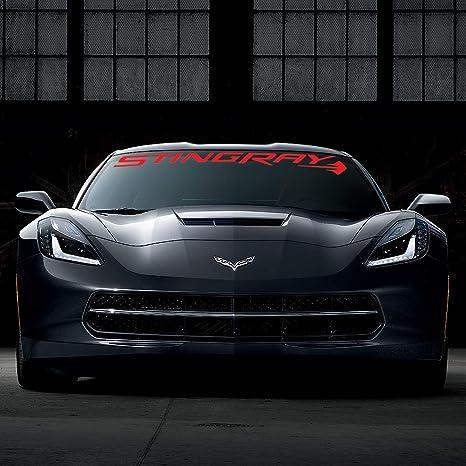 C7 Corvette Windshield Decal Kit (Stingray Script Red)