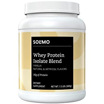 ddb4a2652 Amazon.com  Amazon Brand - Solimo Whey Protein Isolate Blend ...