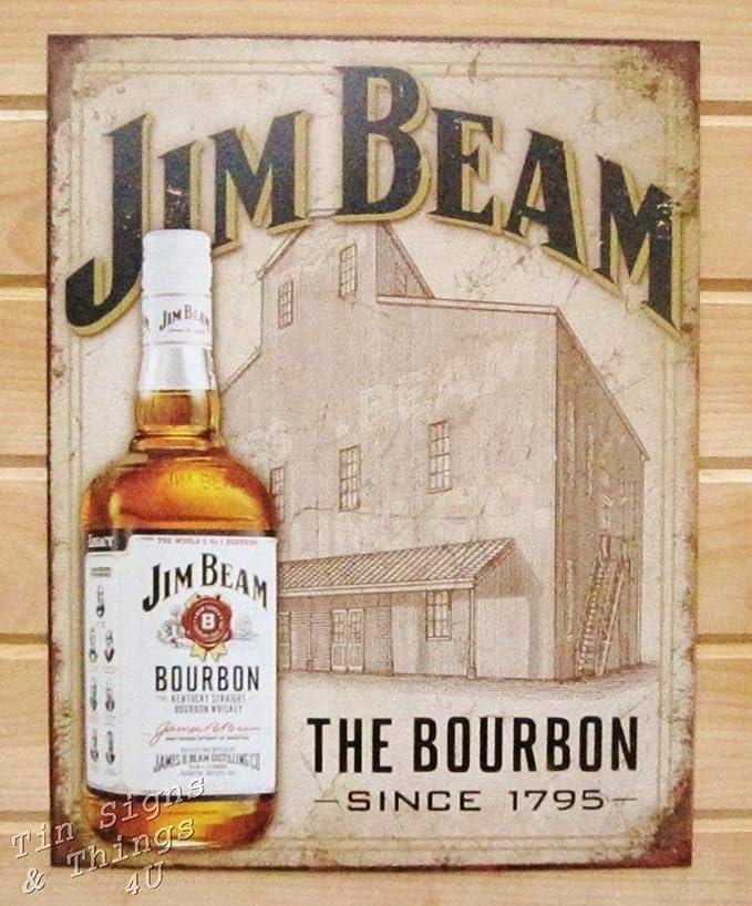 Jim Beam Retro vintage style metal tin sign gift Home Decor Pub