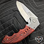 """Only US 9"""" M-TECH STEAM Punk Spring Assisted Open Tactical Folding Pocket Knife Wood New 7"""