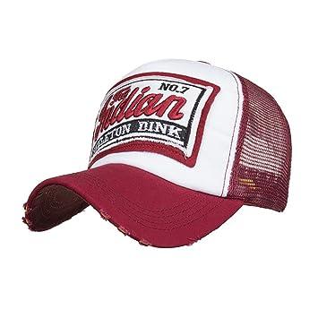 LMMVP Sombrero Gorra para Hombre Mujer Talla única Casquillo Bordado de Verano Sombreros de Malla para Casuales Sombreros Hip Hop Gorras de Béisbol (E): ...