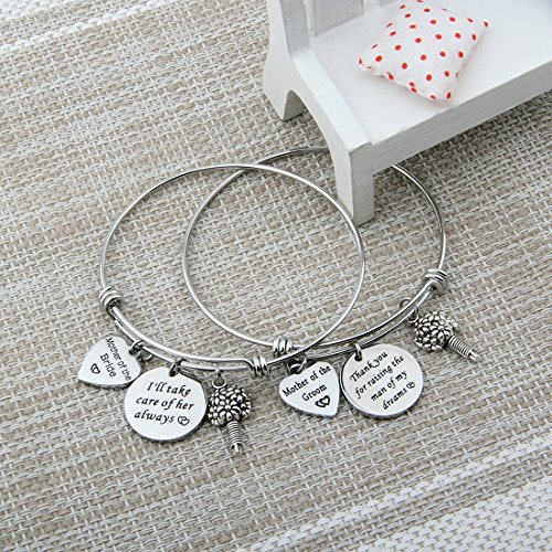 Zuo Bao Mother of the Bride or Groom Adjustable Bangle Wedding Gifts Mothers gifts Bangle bouquet (Bangle set) by Zuo Bao (Image #3)