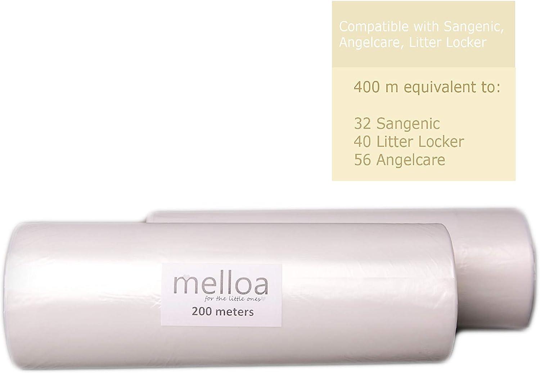 ECO Recarga universal compatible con tratamiento inodoro para Tommee Tippee Sangenic Tec y Twist and Click Angelcare LitterLocker.